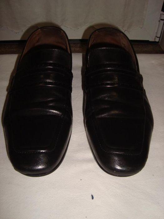 fc908b158 Sapatos Homem ZARA em Pele Preto Clássicos n 43