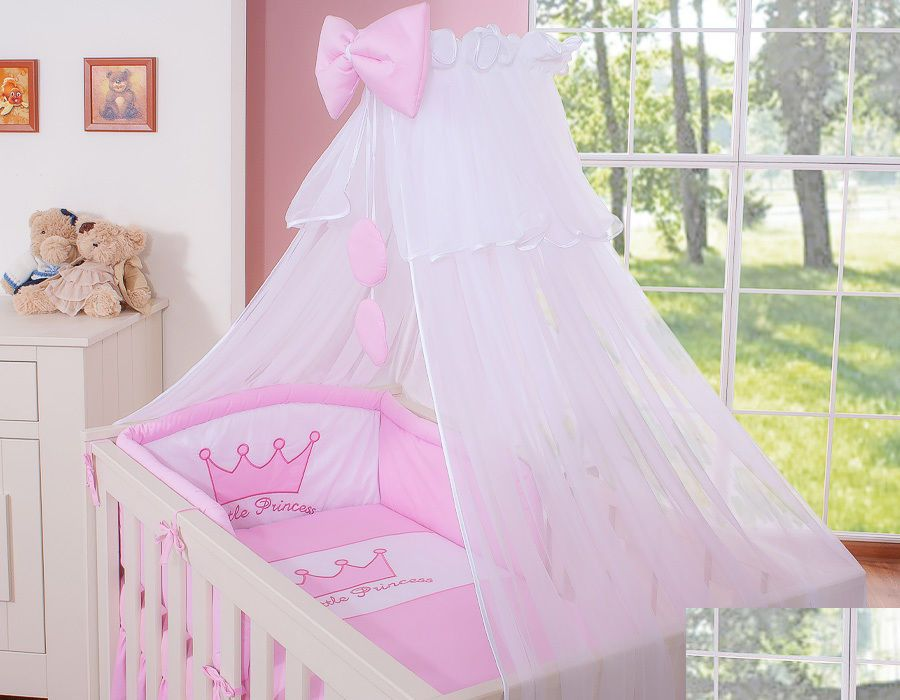 Conjunto para berço : cama de bebé com suporte + mosquiteiro