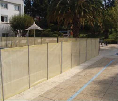 Proteção Segurança vedação exterior com porta cascais piscinas e spas
