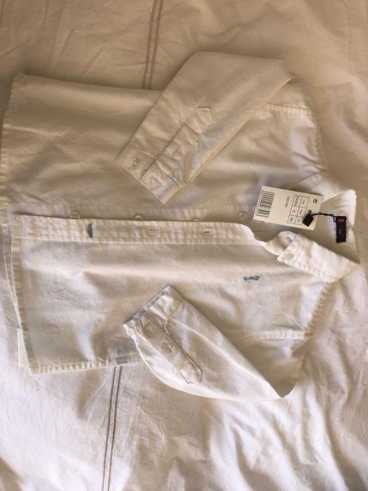 Camisa lanidor, branca oxford, 18 meses (veste grande)