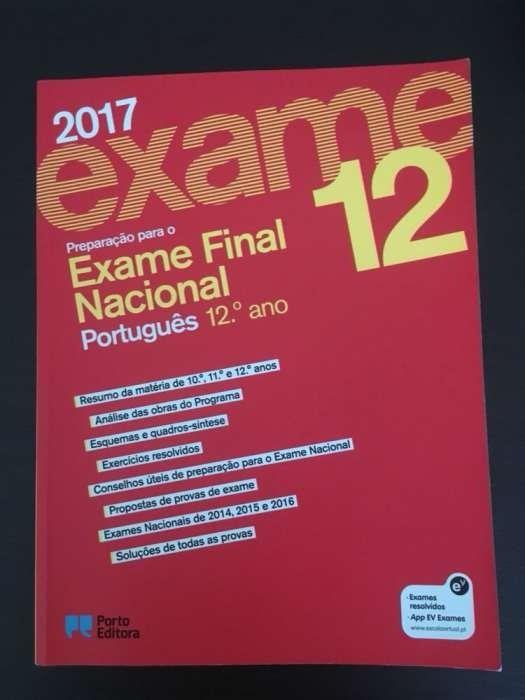 Livro- Preparação para o exame Português 2017 Porto Editora