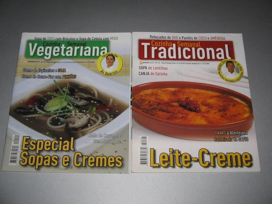 Cozinha Tradicional e Vegetariana (2 revistas)