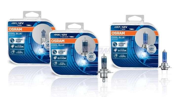Lâmpadas H4 / H7 OSRAM Cool Blue Boost 5000k Brancas