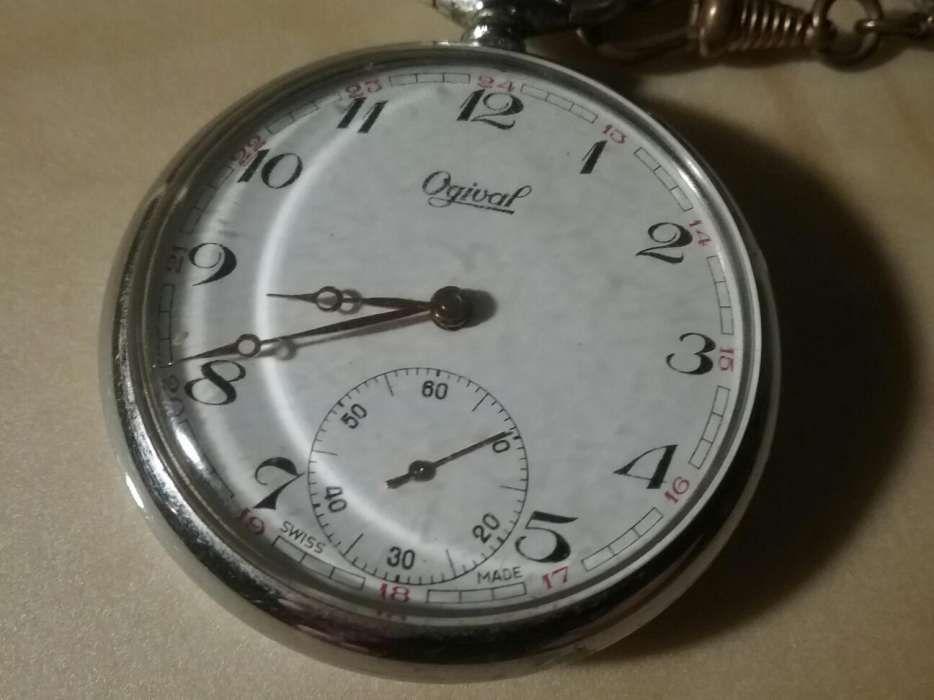 e3881a28d4f Relógio bolso Ogival Swiss made