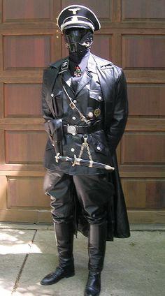 Casaco comprido em Pele Gestapo
