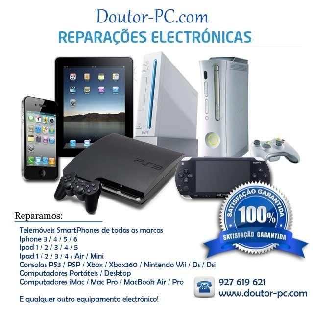 Reparação Telemóvel, Computador portátil, tablet, TV, Consola de jogos