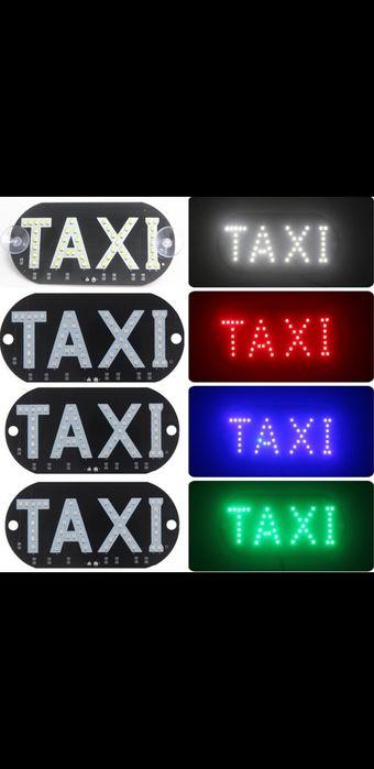Taxi Led табличка Такси надпись светодиодная TAXI