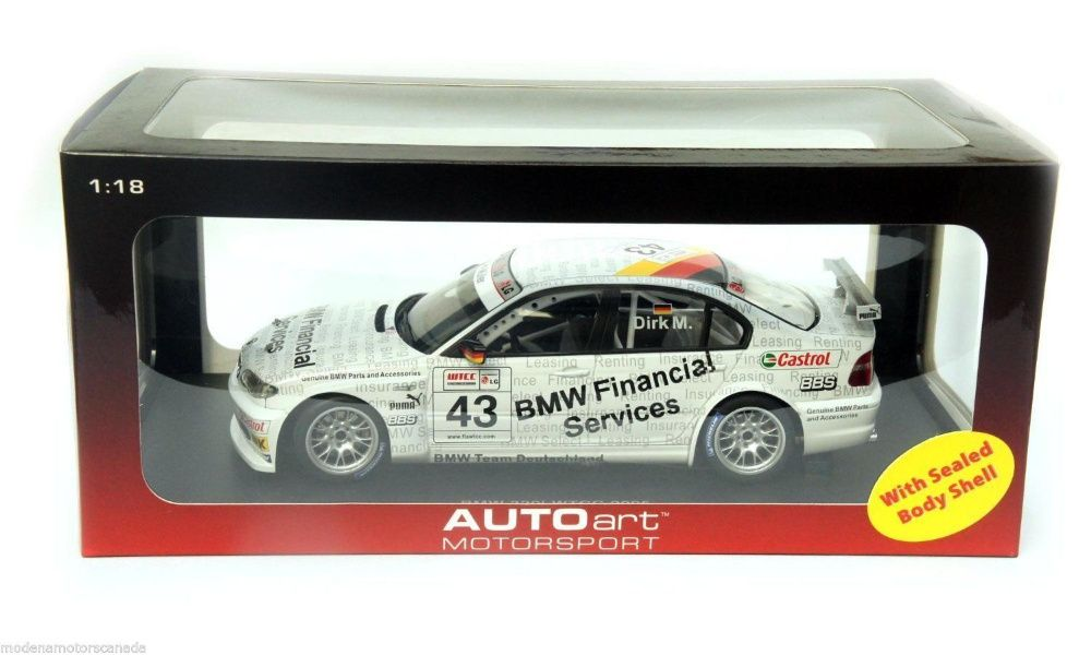 Miniatura AUTOart BMW 320i E46 #43 WTCC 2005 Genuine Parts 1:18