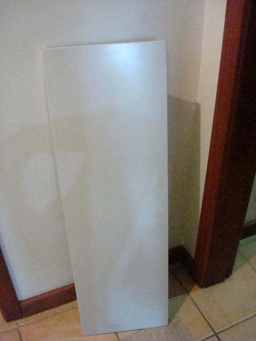 Avental cinza para secretária de escritório 100x32x2cm