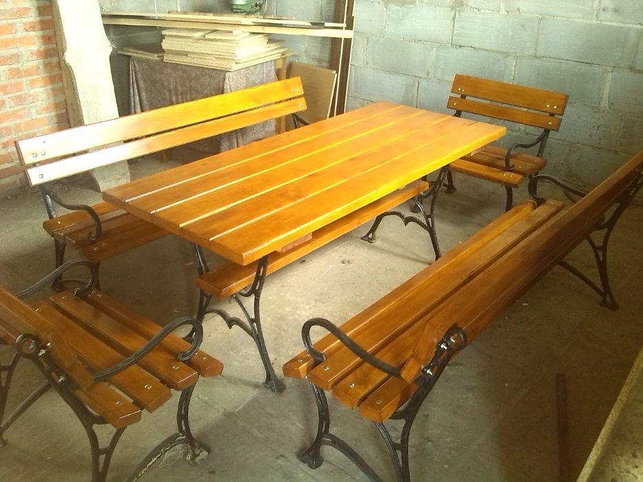 Meble ogrodowe XL, stół, ławka, 200cm.x 80cm. ogródek piwny