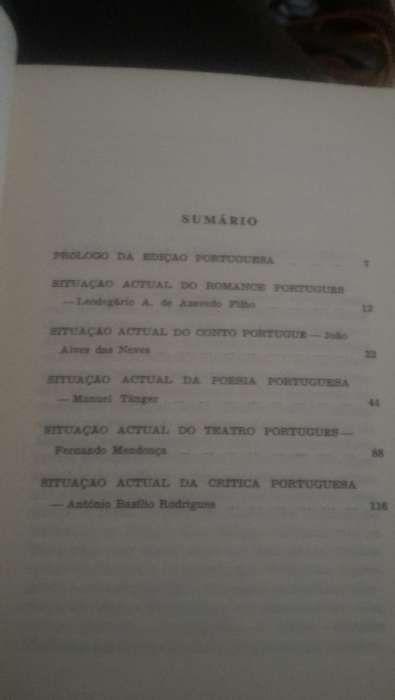 Situação actual da Literatura Portuguesa - Antologia