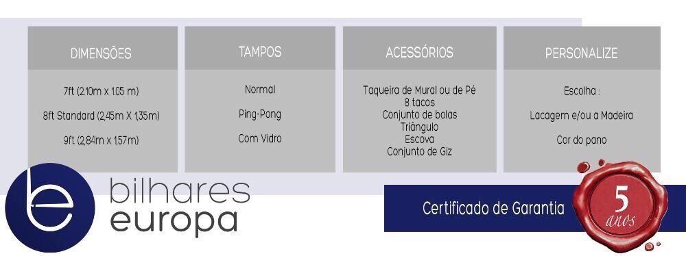 PME Lider 2016 Bilhares Europa bilhar Picasso + tampo Lisboa - imagem 5