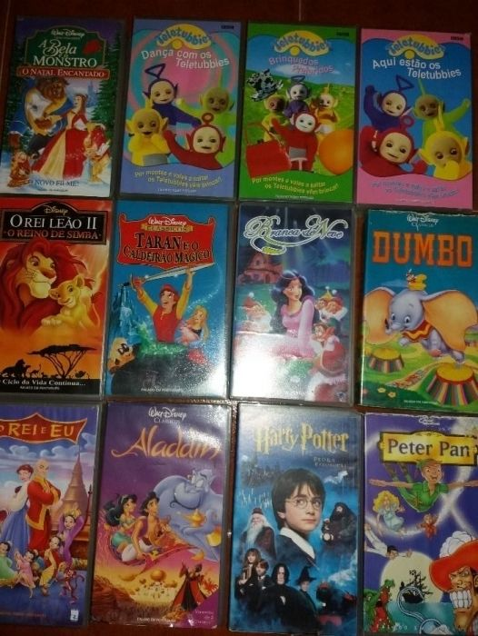 Cassettes Vhs Desenhos Animados Quinta Do Conde Olx Portugal