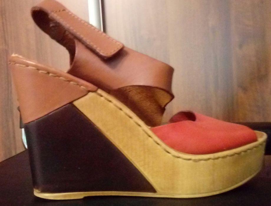 olx sandały damskie na koturnie