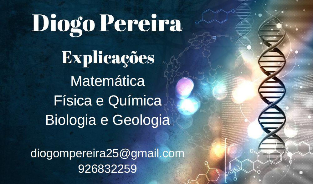 Explicações Matemática, Física e Química, Biologia e Geologia