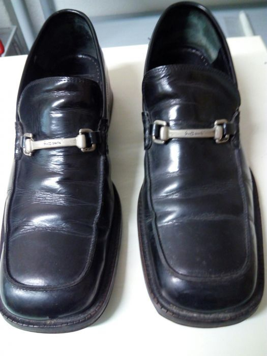 4adbaafe43 Sapatos pele tipo mocassim pouco uso - Laranjeiro E Feijó - Sapatos mocassim  preto pele