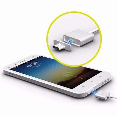 Cabo Magnético Micro USB Carregador Universal Samsung Huawei LG
