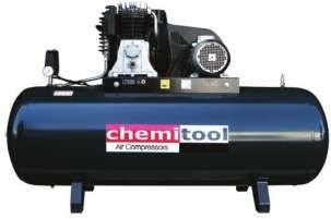Compressor Ar CHEMITOOL 200 Lts 3 HP 315 Lts/ min 10 Bar