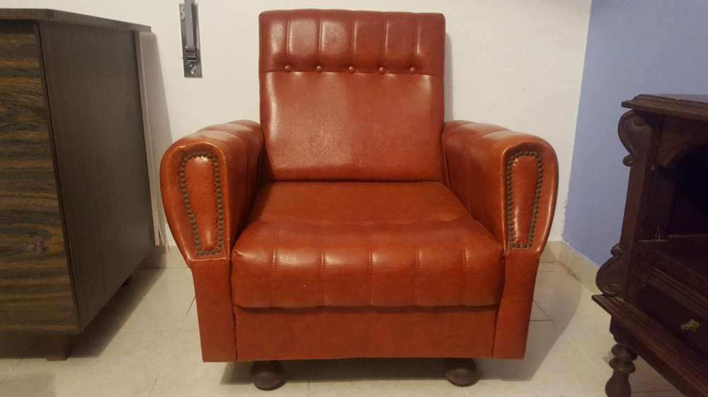 Sofá castanho vintage