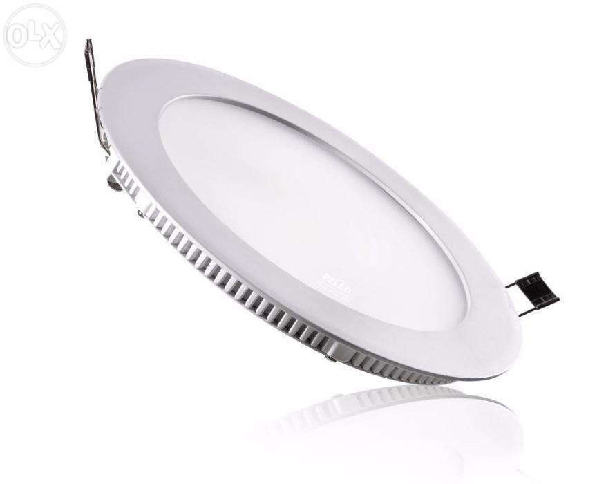 Downlight led encastrar fino 18w redondo - branco quente,natural,frio