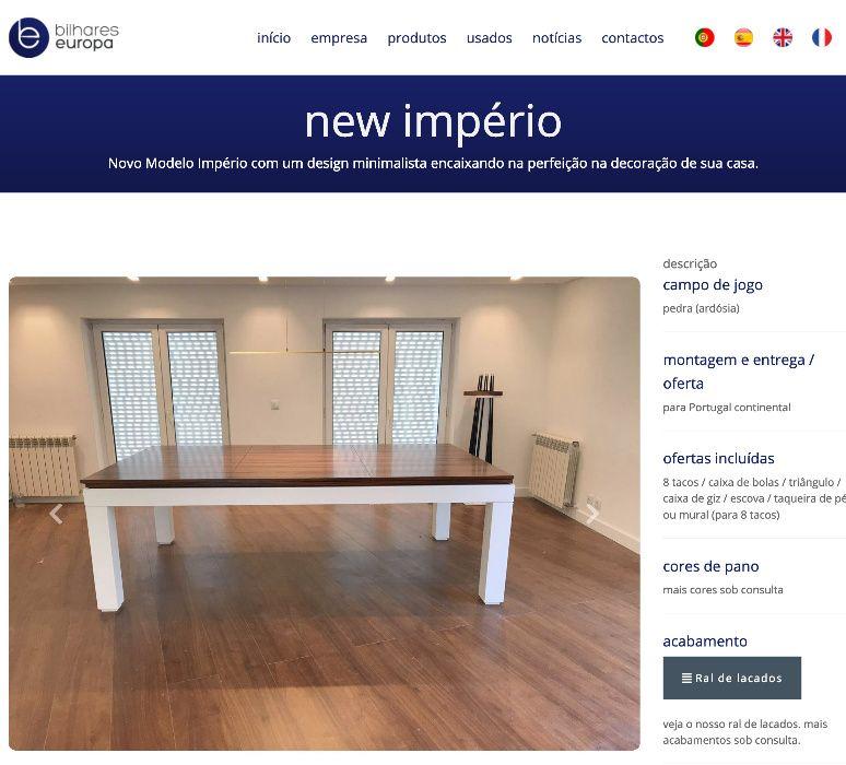 BilharesEuropa fabricante Mod New imperio Campanha do Mês Oferta tampo