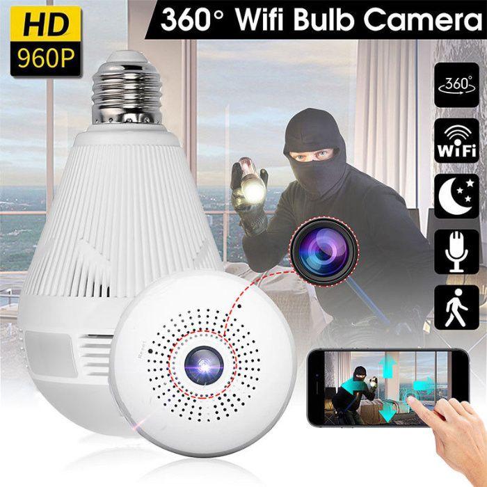 Câmera c/ APP WIRELESS Video Vigilançia 1080P TEMPO REAL Lampada Espia