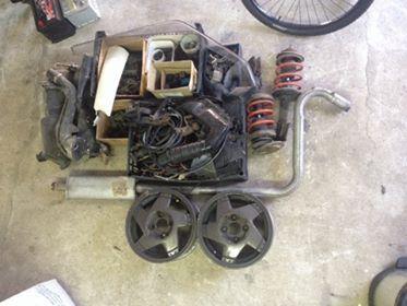 conjunto de peças Renault 5 GT Turbo