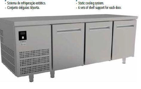 bancada refrigerada mesa de trabalho com frio para pastelaria