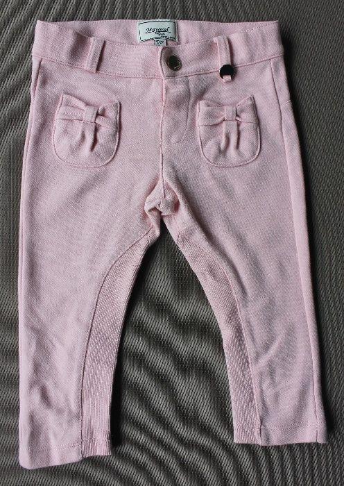 Calças Mayoral de algodão, tamanho 12 mês cor-de-rosa