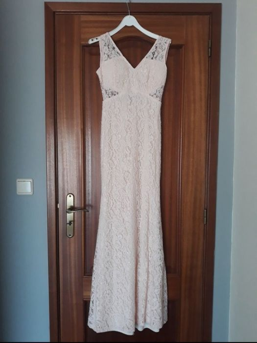 Vestido Longo Leve Foto Casamento Campo Forrado Comprasegura