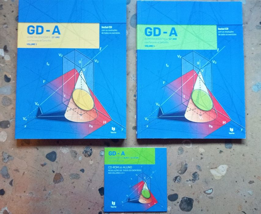 Livro de Geometria Descritiva 11 ano + CD Lamego (Almacave E Sé) - imagem 1