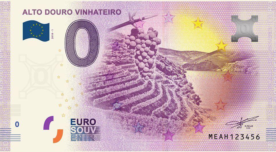 Nota 0€ (zero euros): ALTO DOURO VINHATEIRO (NumisVilaReal)