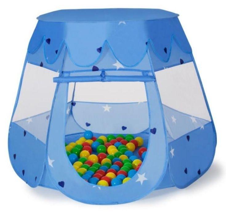 NOWY Suchy basen kojec namiot domek Niebieski 200 piłeczkami