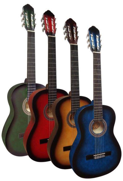 Guitarra clássica 4/4 - várias cores - NOVA