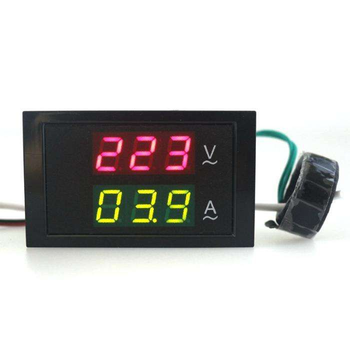 Voltimetro/Amperimetro Digital de Painel para 80 - 300 V / 0 - 99,9 A