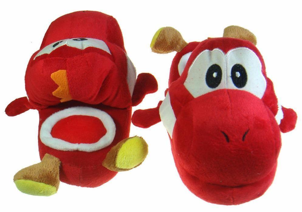 Chinelos criança Peluche Yoshi Nintendo Super Mario Brothers Braga - imagem 1