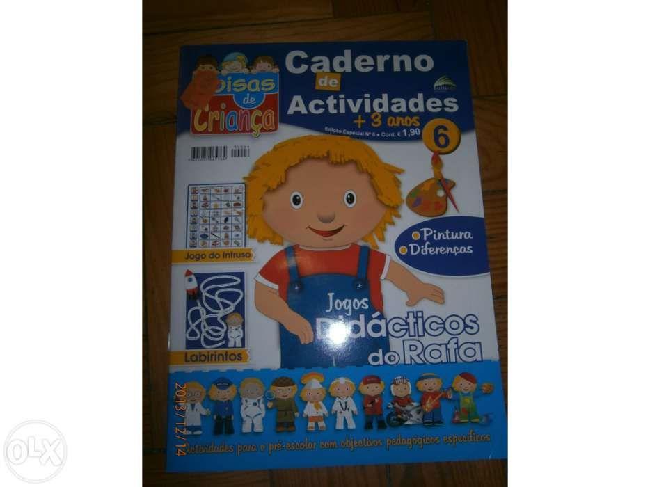 Conjunto de 4 Revistas Coisas de Criança - Cadernos de atividade