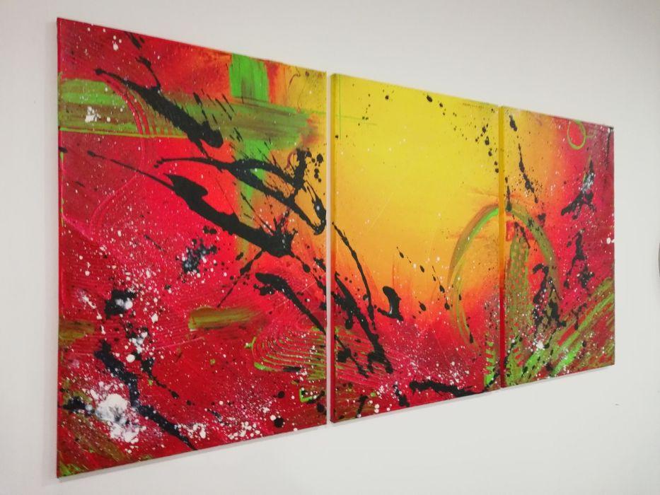 Quadro Tela Pintura Abstrato Decoração
