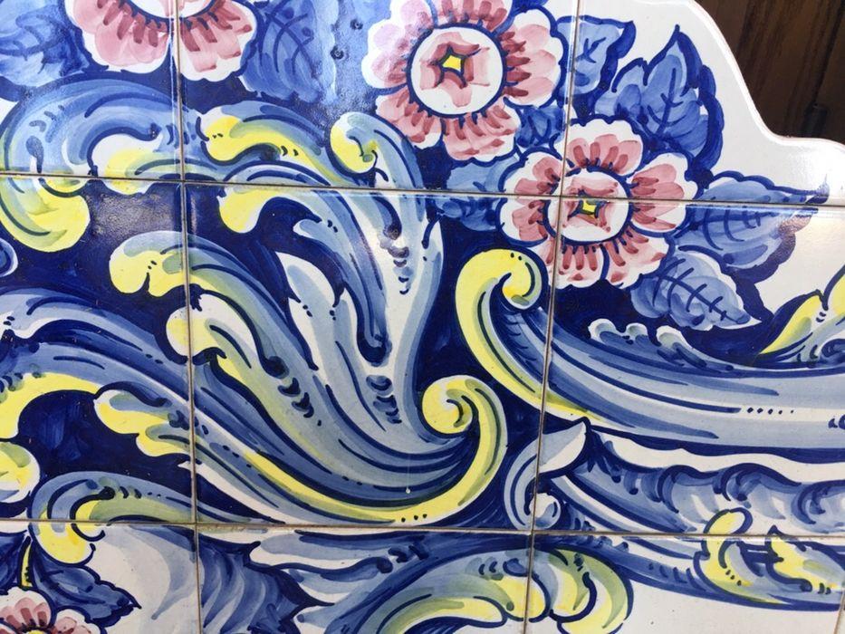 Magnífico painel de Azuleijos , pintado á mão, assinado Mindelo - imagem 4