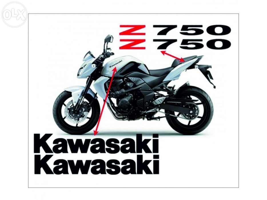 Kawasaki z750 autocolantes + oferta nome