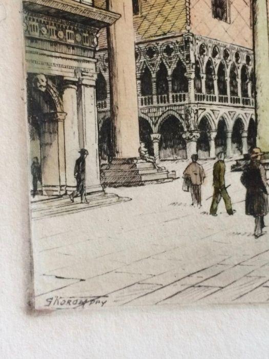 2 Gravuras de Giovanni Korompay – cerca de 1920 São Pedro de Castelões - imagem 3