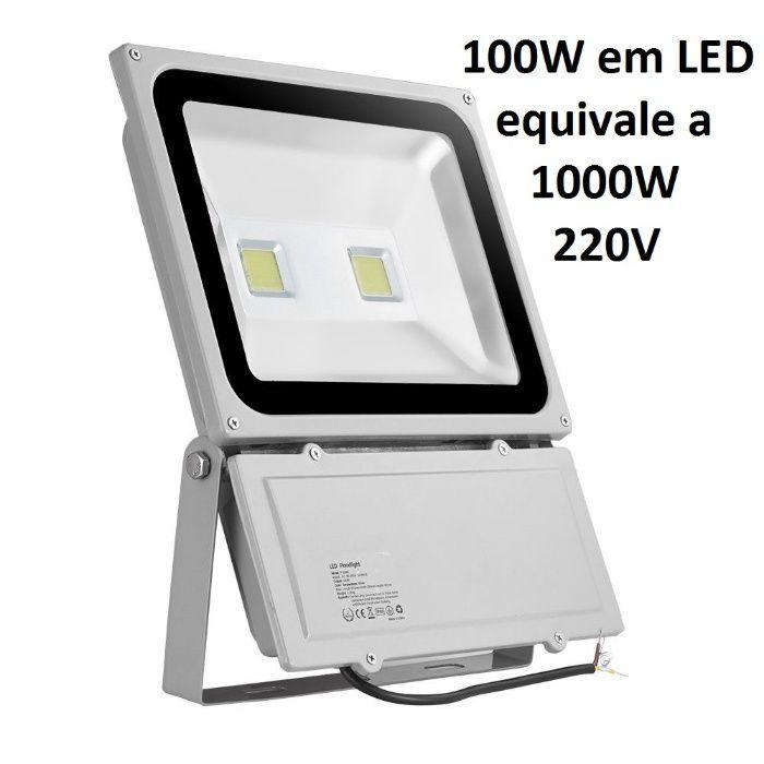 Projector Luz LED 100W Holofotes