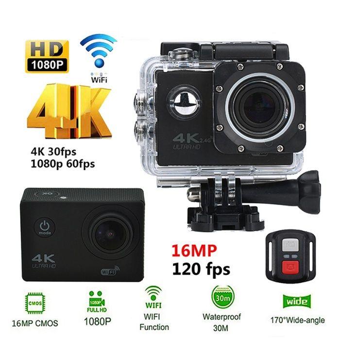 NOVA Action Camera Ultra HD 4K - WiFi - Acessórios - GoPro - Prov.AGUA