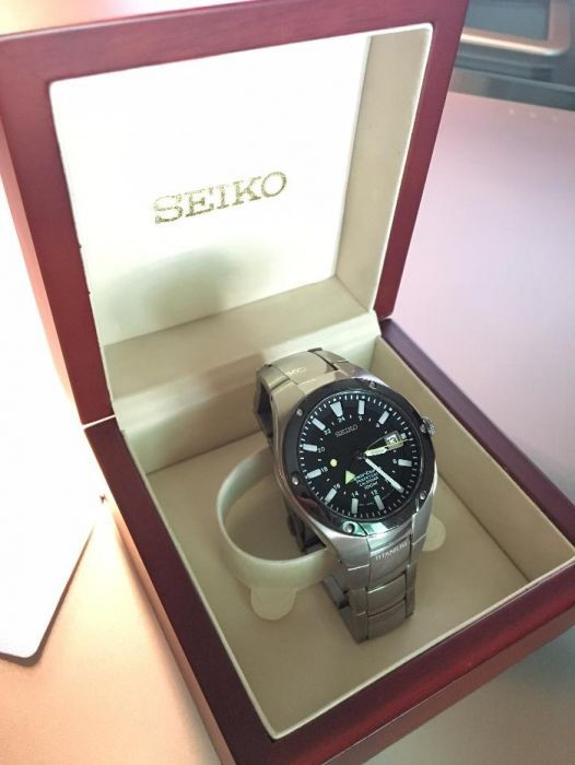b3be1cb9f87 Relógio SEIKO Sportura 8F56-0120 Titanium Perpetual Calendar - Algés -  Vendo Relógio SEIKO Sportura