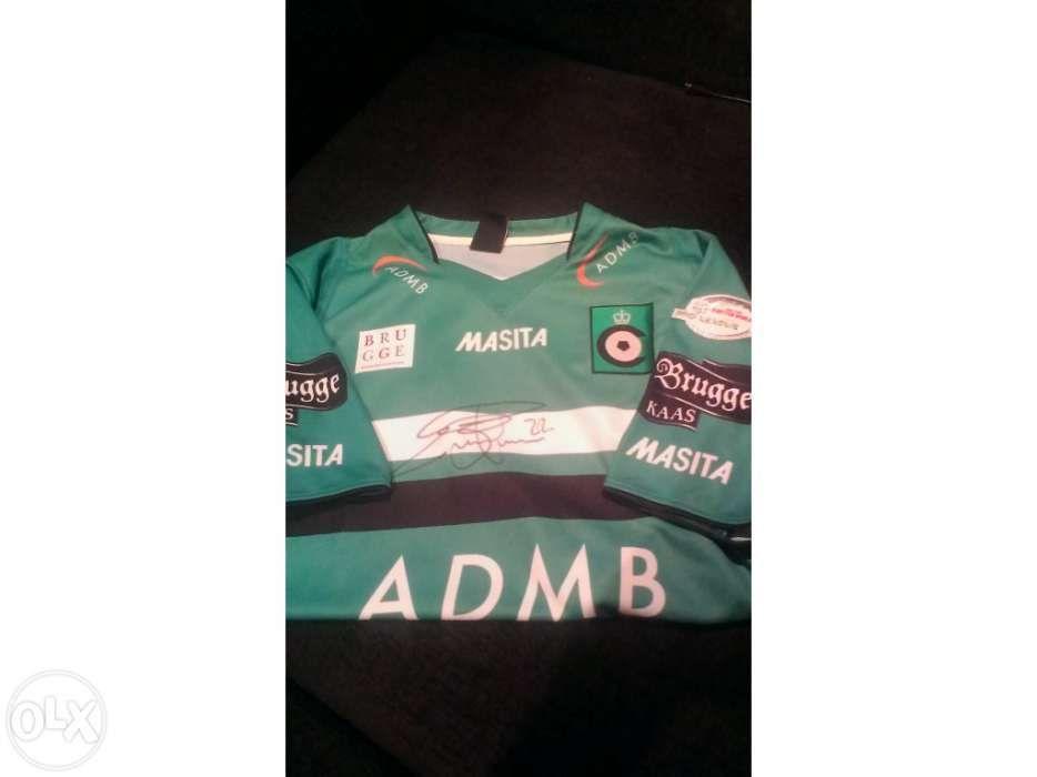 Camisola oficial Cercle Brugge do jogador Eiður Guðjohnsen - Barreiro E  Lavradio - Camisola oferecida e d025a9c5043be