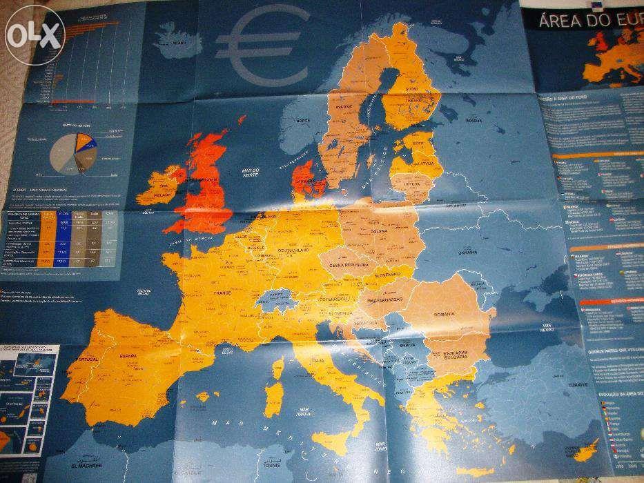 Mapa da zona EURO
