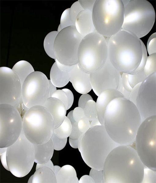 Pack de 50 Balões Led + Hélio Peso Da Régua E Godim - imagem 2