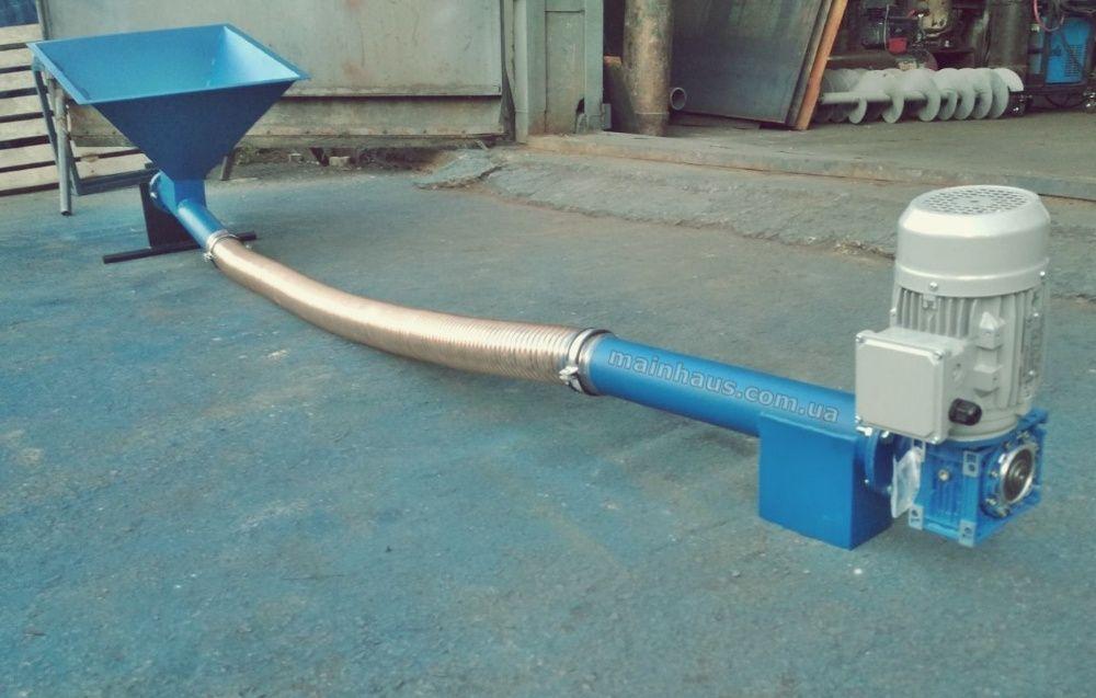 Гибкий шнек спиральный конвейер элеватор корпусной для колонн