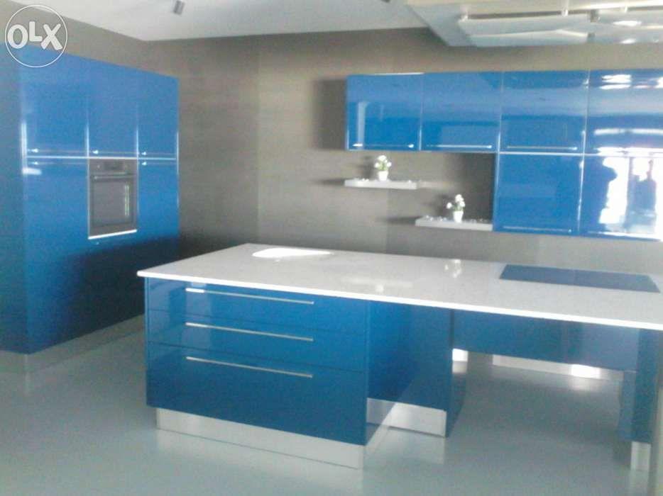 Cozinha Lacada Azul