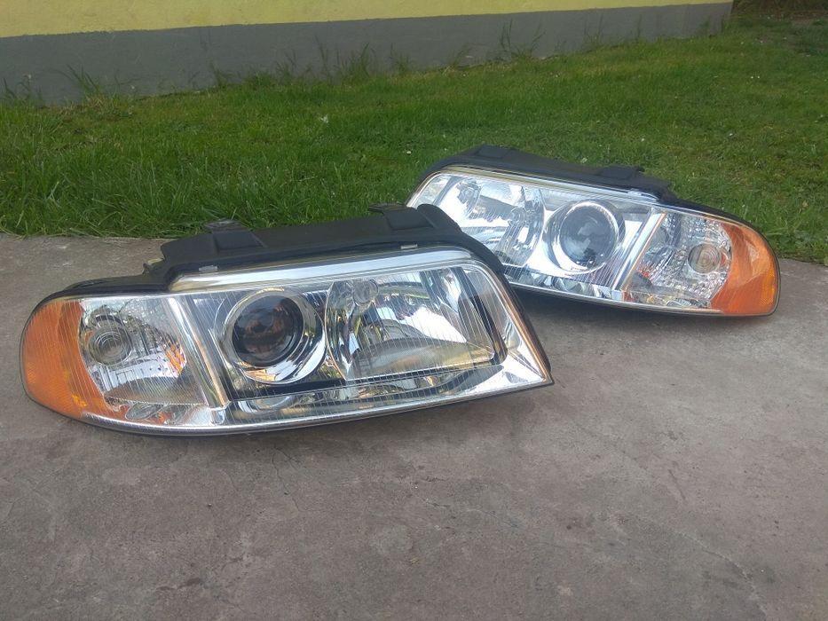 Bixenon lampy przód Audi A4 S4 B5 hella intemo przetwornice